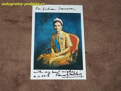 Farah PAHLAVI - original hand signed photo, Empress Of Iran