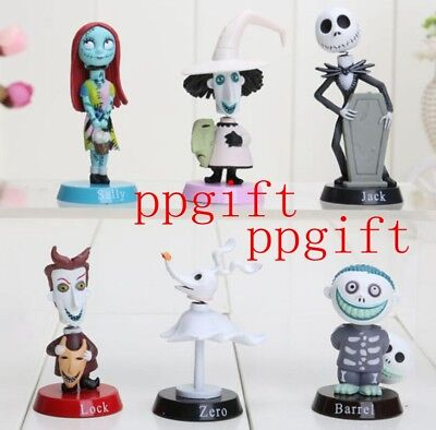 New 1Set 6 Pcs Nightmare Before Christmas PVC figure figures dolls Toys