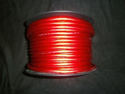 4 Gauge Wire 25 Ft Awg Cable Red Super Flexible Primary Stranded Power Ground