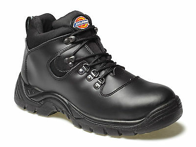 Dickies Mens Black Leather Fury Safety Work Hiker Boots Steel Toe Cap Size 6-12