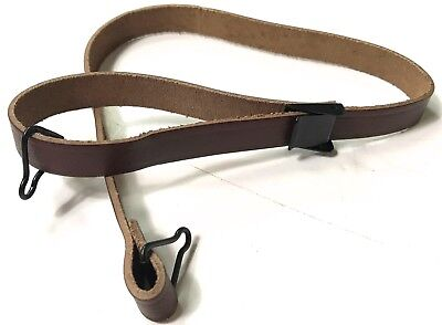 Wwii Us Army Infantry & Airborne M1 Helmet Leather Liner Chinstrap-Black