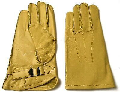 Wwii Us Army Airborne Paratrooper Dday Leather Jump Gloves-Size Xlarge