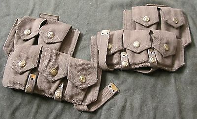 Wwi Wwii Uk British Common Wealth P1908 Enfield Rifle Ammo Pouches-Pair