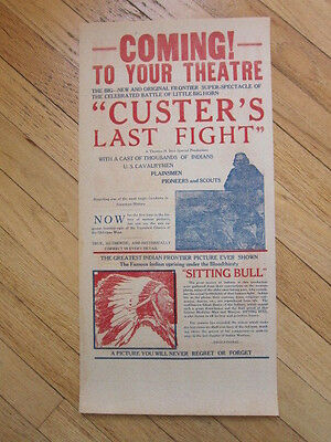 CUSTER'S LAST FIGHT 1925 movie poster Thomas Ince silent western Little Big Horn