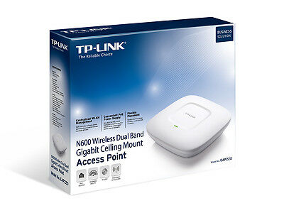 TP-LINK EAP220 Wireless Access Point Dual Band Wireless N 600 Ceiling Mount F45