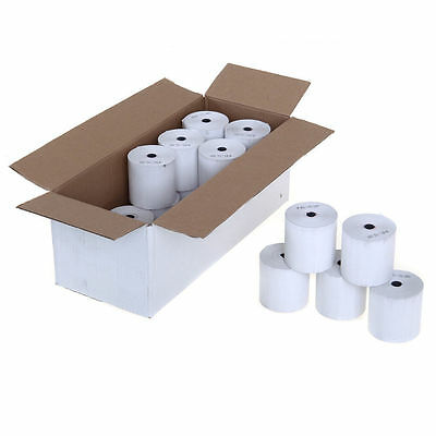 100 x BNIB 57mm x 40mm Credit Card, PDQ / TILL THERMAL PAPER RECEIPT x 100 ROLLS