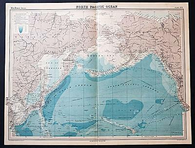 c1920 Times Atlas map of North Pacific Ocean