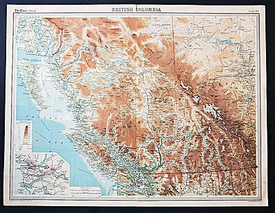 c1920 Times Atlas map of British Columbia