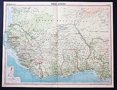 c1920 Times Atlas map of West Africa