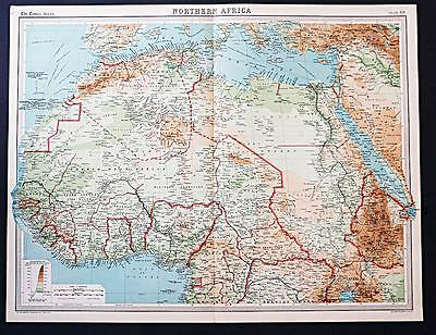 c1920 Times Atlas map of Northern Africa
