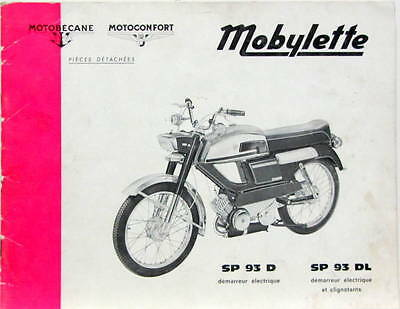 1971 Moto Motobecane Sp 93 Motoconfort Mobylette Catalogue De Pieces Detachees