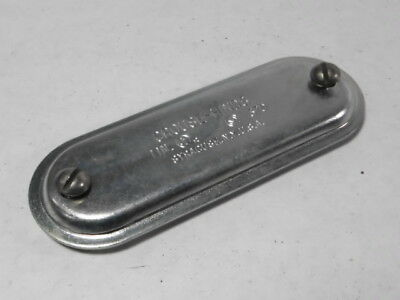 """Crouse-Hinds 370 Conduit Cover 1"""" Sheet Steel ! NOP !"""