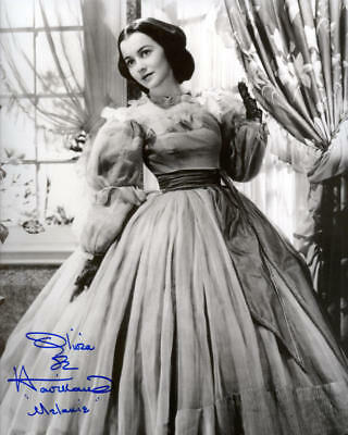 1939 *gone With Wind* Movie Photo Olivia De Havilland Signed Reprint