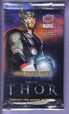 2011 Upper Deck Marvel THOR Movie Trading Cards Pack! (NS30)