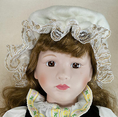 Hamilton Gifts Classical Collection 17 Inch Porcelain Doll With Box & Stand