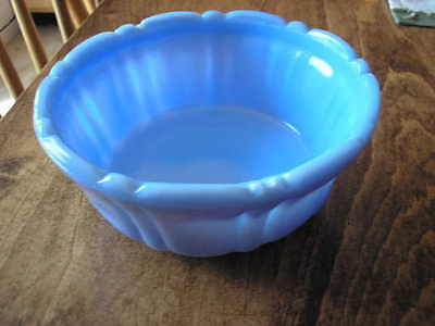 "Delphite Blue 5&1/4"" 3 Footed Bowl"