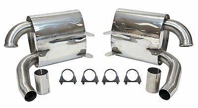 Porsche 911 996 Carrera Stainless Steel Sports Exhaust Silencers by Top Gear