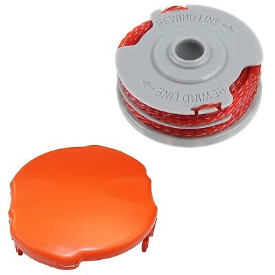 Double Autofeed Spool & Line & Spool Cap Cover For Flymo Strimmers & Trimmers