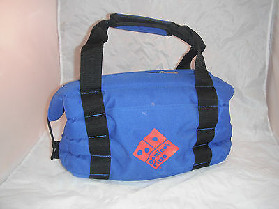 Domino's Pizza logo Wingstreet Blue Insulated Carry Bag Velcro Handle Pocket 316
