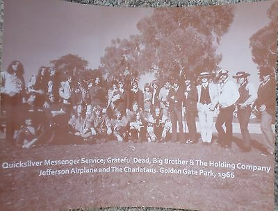 Grateful Dead, Jefferson Airplane, Big Bro &The Holding Co & others Sepia Poster