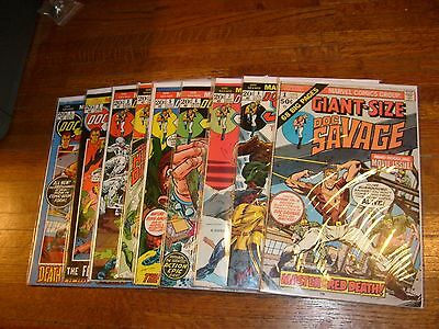 DOC SAVAGE (1970s MARVEL COMIC) #1, 2, 3, 4, 5, 6, 7, 8 & GIANT-SIZE #1, lot2