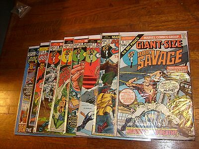 DOC SAVAGE (1970s MARVEL COMIC) #1, 2, 3, 4, 6, 7, 8 & GIANT-SIZE #1, lot3