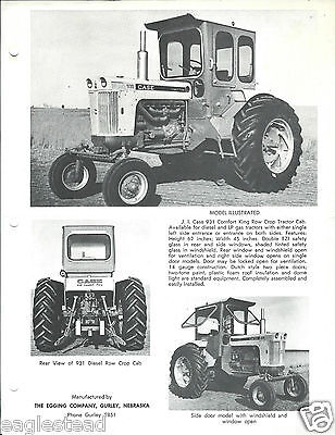 Farm Tractor Brochure - Egging - Comfort King Cab for Case 931 Row Crop (F4070)
