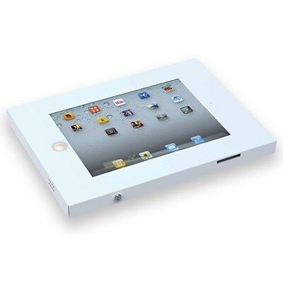 iPad Wall Mount Anti-Theft Secure Enclosure for iPad2/3/4/Air - white
