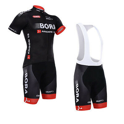 New Fashion Mens Riding Polyester Jersey Bib Shorts Outfits Cycling Suit Wear
