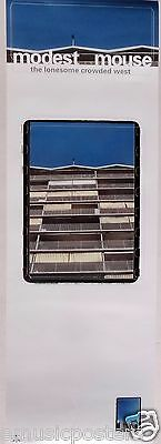 "MODEST MOUSE ""LONESOME CROWDED WEST"" U.S.PROMO POSTER - V.2 Building's Balconies"