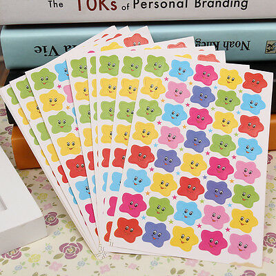 400pcs Smile Stars Decal School Children Teacher Label Reward Cute Sticker New