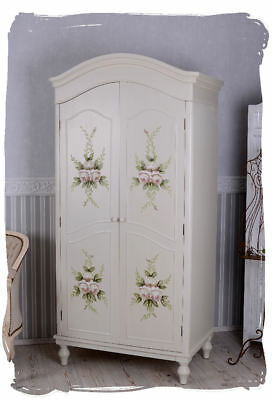 vintage kleiderschrank shabby chic schrank w scheschrank antik stil eur 499 00 picclick de. Black Bedroom Furniture Sets. Home Design Ideas