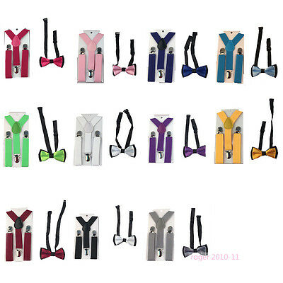 Hot Suspenders and Bow Ties Matching Toddler Kids Boys Accessories Set GHHtr0010