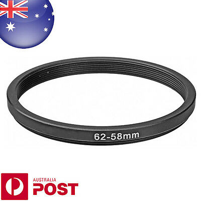 New 62-58mm  62mm - 58mm Metal Step Down Lens Filter Ring Adapter - Z526