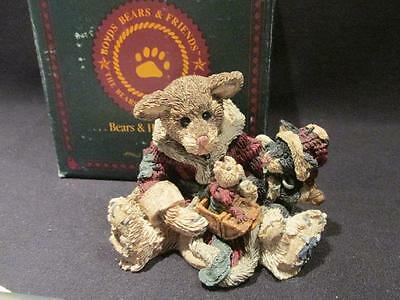 Cookie the Santa Bear 1994 Boyds Bearstone #2237 with Box & COA 2E/796