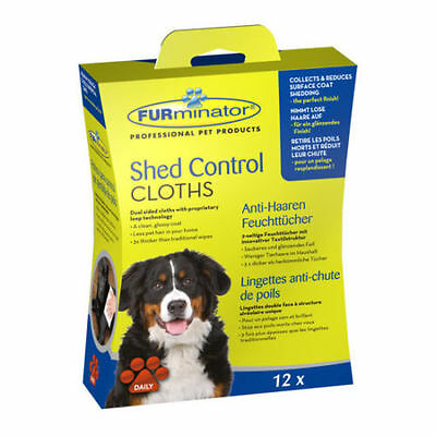 Furminator Shed Control Cloths For Dogs - Pack of 12