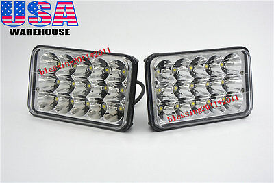 2PCS LED Headlights For Kenworth T400 T600 T800 W900B W900L Classic 120/132 AAAA