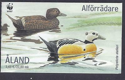 ALAND. 2001. STELLERS EIDER DUCK BOOKLET. SG: 184a. MNH COMPLETE