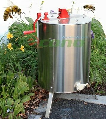 "4/8 Frame Stainless Steel Honey Extractor 24"" Stainless Drum"