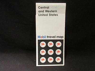 Mobil Central & Western United States 1970 Rand McNally Map with NDC Ad