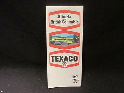 Texaco Vintage Alberta & British Columbia Rolph Clark Stone Ltd 1970 Road Map