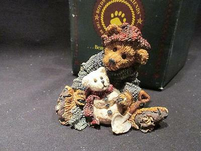 Elliot & Snowbeary 1994 Boyds Bearstone #2242 with Box  #12E/3040