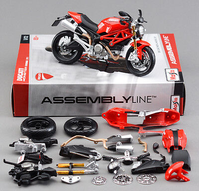 Diy Assembly Model Kit 1/12 Scale Diecast Motorcycle Collection Ducati 696