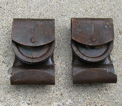 Antique Pair Of Barn Door Rollers Vermont Find