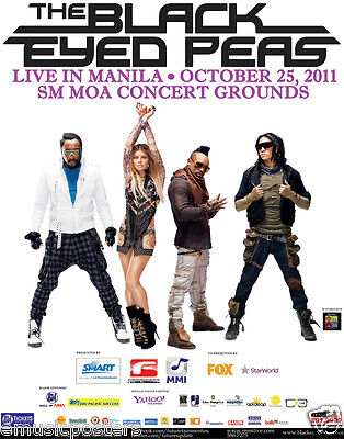 "BLACK EYED PEAS ""LIVE IN MANILA"" 2011 PHILIPPINES CONCERT TOUR POSTER - Hip Hop"