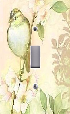 Light Switch Plate Outlet Covers~ CHIC  SONG BIRD  SHABBY FLOWERS 04