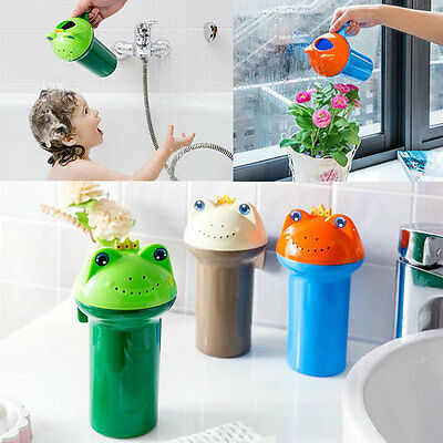 Children's Baby Accessories Frog Baby Shower Bath Water Spoon Cup Shampoo