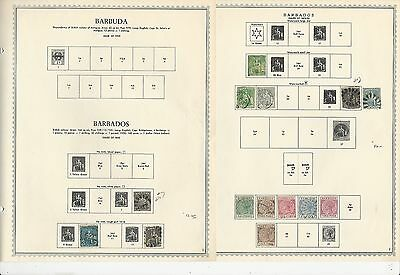 Barbados Collection 1852 to 1975 on Minkus Pages, SCV $207
