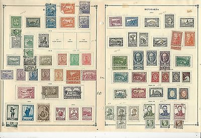Bulgaria Collection 1910 to 1954 on 18 Album Pages