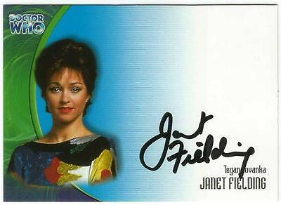 Dr Doctor Who Series 3 Auto Card AU17 Janet Fielding as Tegan Jovanka